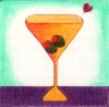 Orange Martini Coaster
