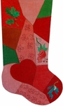 Patchwork Stocking - Heart