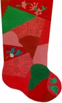 Patchwork Stocking - Ornament