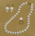 Pearl Necklace Ring & Earrings