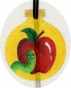 Apple and Worm Ornament