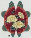 Petite Turtle with Daisies
