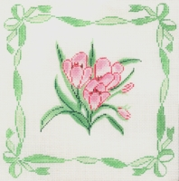 Pink Flowers with Border