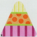 Pink Stripes Candy Corn