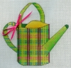Plaid Watering Can Topiary