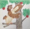 Pooh's Owl In Apple Tree