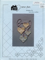 Pulled Thread Heart Charms