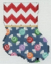 Red Chevron & Candies Mini Sock
