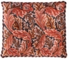 Red / Dk Grey Acanthus Pillow/Chairseat