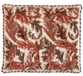 Red on Ivory Acanthus Pillow/Chairseat