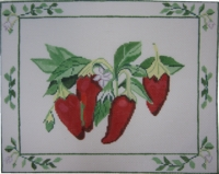 Red Peppers On Vine