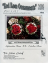 Red Rose Ornaments 2009