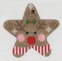 Red Striped Reindeer Star
