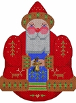 Roly-Poly Santa w/Reindeer & Bell Charms