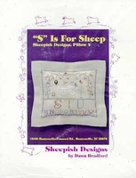 """S"" Is For Sheep Pillow"