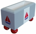 Sailboat Container w/Painted Canvas