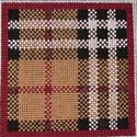 Tan & Black Plaid Square