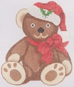 Teddy In Christmas Hat & Bow