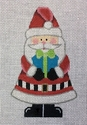 Triangular Santa w/ Gift