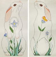 Two-Sided Floral Rabbit
