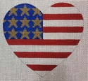 USA Flag Heart