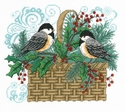 Winter Chickadee Basket
