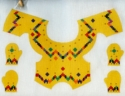 Yellow Bargello Vest w/ Kitten