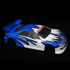 1/10 Road Car Body, Blue and White