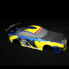 1/10 Road Car Body, Blue and Yellow