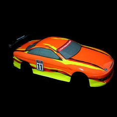 1/10 Road Car Body, Orange and Yellow