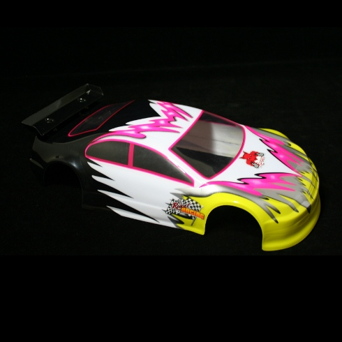 1/10 Road Car Body, Pink and Yellow