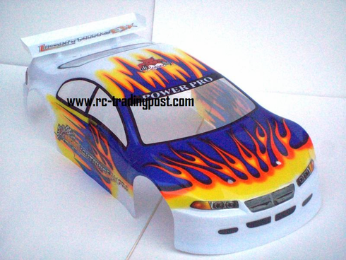 1/10 200mm Onroad Car Body White Orange and Blue
