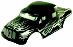 1/10 Semi Truck Body Black and Silver