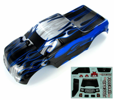 1/10 Truck Body, Black and Blue