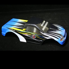 1/10 Truck Body Blue and Black Flame