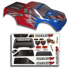 1/10 Truck Body Red, White, and Blue