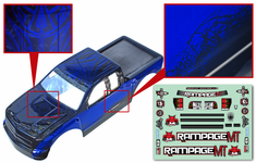 1/5 Truck Body, Blue and Black