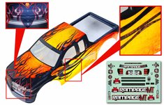 1/5 Truck Body, yellow with black flames