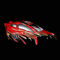 1/8 Buggy Body Red and Black