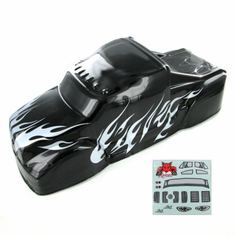 1/8 Semi Truck Body, Black and Silver