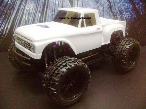 1966 Ford F-100 Redcat Volcano EPX PRO Brushless 4X4 1/10th 40+MPH Electric RC Monster Truck Ready To Run Custom Painted With 2.4Ghz Radio, Waterproof Electronics, And 2S Lipo Battery!!!