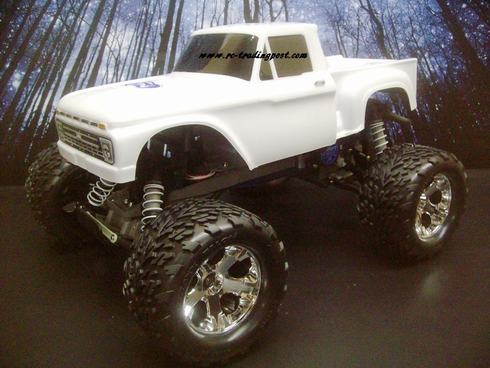 1966 Ford F-100 Traxxas Stampede XL-5 1/10th 30+MPH Electric RC Monster Truck Ready To Run Custom Painted With 2.4Ghz Radio And Waterproof Electronics