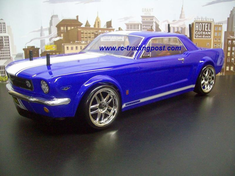 1966 Mustang GT Coupe Redcat Racing EPX RTR Custom Painted Electric RC Street Cars Now With 2.4Ghz Radio!!!