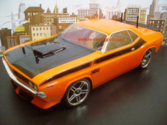 1970 DODGE CHALLENGER Redcat Racing EP Brushless RTR Custom Painted Electric RC Street Cars Now With 2.4 GHZ Radio AND 2S Lipo Battery!!!