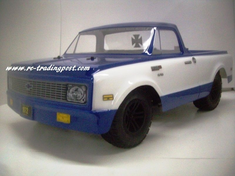 1972 Chevy C10 Custom Painted 1/10 RC Short Course Truck Body For Traxxas Slash