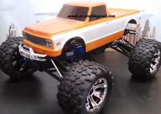 1972 Chevy C10 Custom Painted 1/8 RC Monster Truck Body For Traxxas T-maxx 3.3