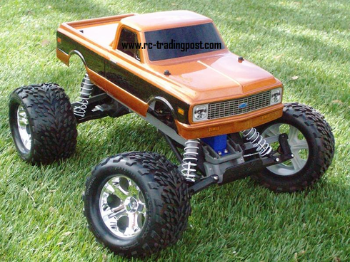1972 Chevy C10 Traxxas Stampede XL-5 1/10th 30+MPH Electric RC Monster Truck Ready To Run Custom Painted With 2.4Ghz Radio And Waterproof Electronics