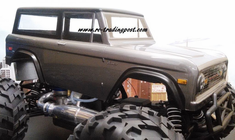 1973 Ford Bronco Custom Painted 1/8 RC Monster Truck Body for E-Maxx/E-Revo/Revo/RC Crawlers