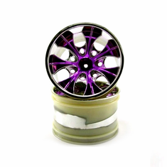 2.8 Purple 7 spoke Wheels, 2pcs