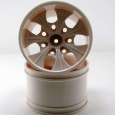 2.8 White 7 spoke wheels 2pcs